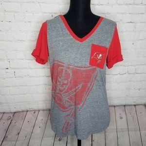 Tampa Bay Buccaneers V Neck Tee Shirt Top